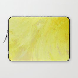 Abstract Yellow Sun by Robert S. Lee Laptop Sleeve