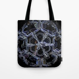 Water as a Crystal, pattern snowflake art on leggings and more! Tote Bag