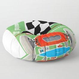 1961 Italian Grand Prix Advertising Poster Floor Pillow
