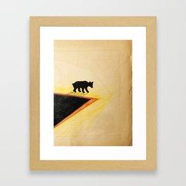 White Bear After Black gold Bath   Framed Art Print