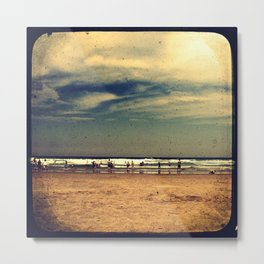 Vintage Beach - Through The Viewfinder (TTV) Metal Print