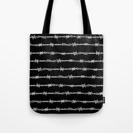 barbed wire stripe - black Tote Bag