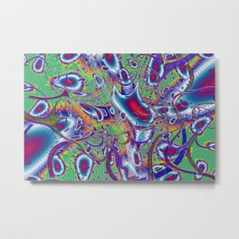SnozzBerries Psychedelic Fractal Metal Print