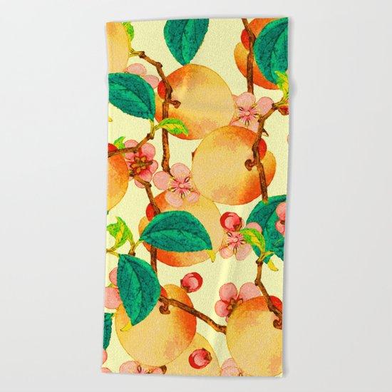 Summer fruit pattern #society6 Beach Towel