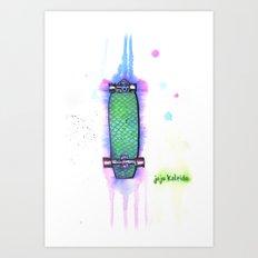 Drip Boards: Mermaid Scales Art Print