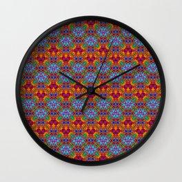 Batik Rainbow Zigzags Wall Clock