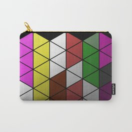 Foil Triangles - Colourful, metallic, geometric pattern Carry-All Pouch