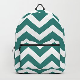 Celadon green - green color -  Zigzag Chevron Pattern Backpack