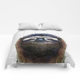 Hipster Sloth Comforters