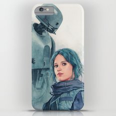 Jyn Erso and K-2so iPhone 6 Plus Slim Case
