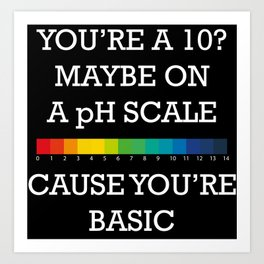You're Basic! Art Print