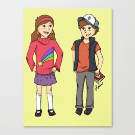 The Mystery Twins Canvas Print