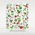 Numerous bubbles of different sizes of Christmas colors by horacioselva