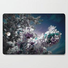 Flowers Purple & Teal Cutting Board