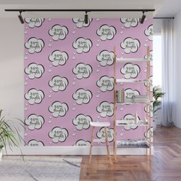 Pink thoughts Wall Mural