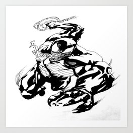 Venom (Comic Version 1) Art Print
