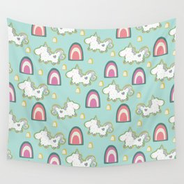 Cereal for Dinner - Unicorns Wall Tapestry