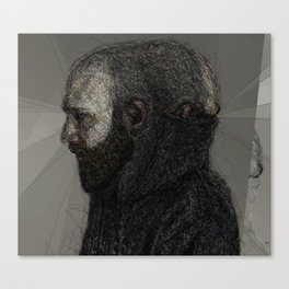 Somewhat Fraudulent Self Portrait at 35 Canvas Print