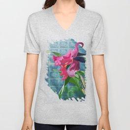 Cattleya Orchid Unisex V-Neck