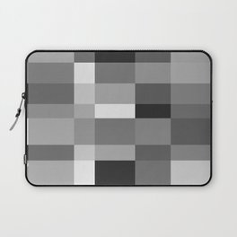Grayscale Check Laptop Sleeve