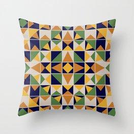 Colorful Ceramic Tile Throw Pillow
