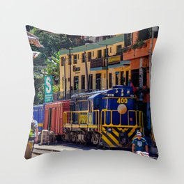 Peru Rail Train - Aguas Calientes Throw Pillow