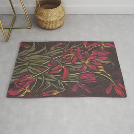 Dying Tulips, Floral Art, Pastel Painting Rug