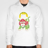 dentist Hoodies featuring Battle Kitty's Mighty RAWR!  by Fanboy30