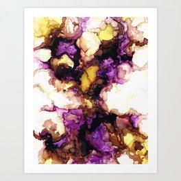 Antique Bearded Iris Art Print