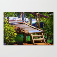 No entry to the decaying wharf Canvas Print