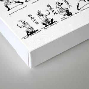 Kung Fu Diagram Canvas Print