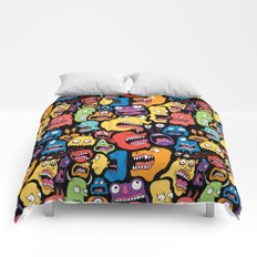 Monster Faces Pattern Comforters