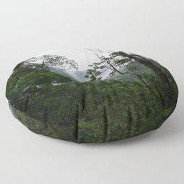 Foggy brazilian forest Floor Pillow
