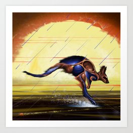 Kangaroo Dreaming Art Print