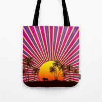 reggae Tote Bags featuring Sunshine Reggae by A-Devine