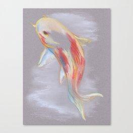Koi Fish Swimming Canvas Print