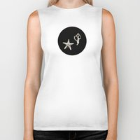 seashell Biker Tanks featuring Starfish Seashell by Loaded Light Photography