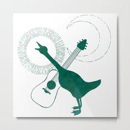 Goose & Guitar Metal Print