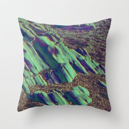 coastal pastel Throw Pillow