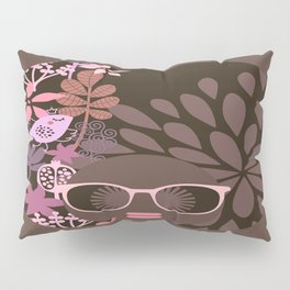 Afro Diva : Sophisticated Lady Pink Taupe Lavender Pillow Sham