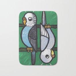 Parakeet Up, Parakeet Down Bath Mat