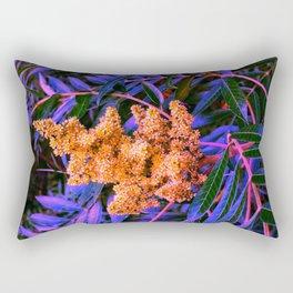 Blue and Gold Sideways Sumac Rectangular Pillow