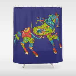 Horse, cool wall art for kids and adults alike Shower Curtain