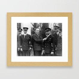 Richard Byrd and Floyd Bennett - Medal Of Honor Presentation - 1927 Framed Art Print