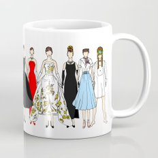 Outfits of Audrey Hepburn Fashion (White) Mug
