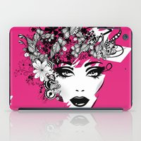 fashion illustration iPad Cases featuring fashion illustration by Irmak Akcadogan