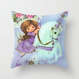 Carousel Cutie Throw Pillow