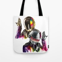 daft punk Tote Bags featuring Daft punk  by beart24