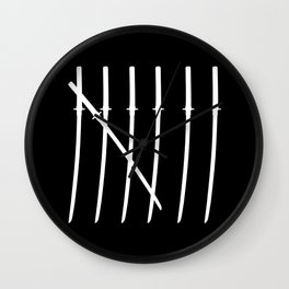 The Samurai Checklist Wall Clock