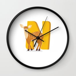 N is for Nyala Wall Clock